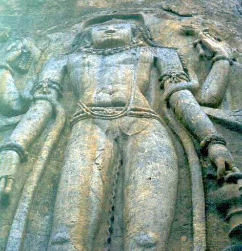 Statua di Buddha a Mulbekh