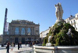 Montpellier, place de la comédie